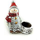 Новогоднее украшение - снеговик-подсвечник, 11,1*5,8*12,8 см