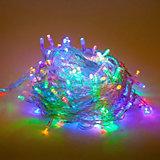 Гирлянда 140 LED, цветное свечение, прозрачный провод