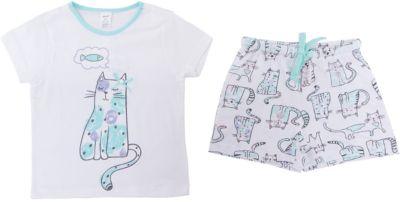 Пижама SELA для девочки - белый