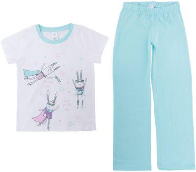 Пижама SELA для девочки - мятный