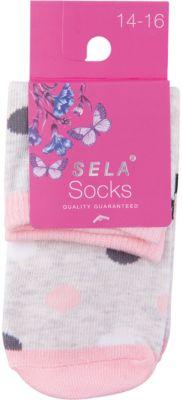 Носки SELA для девочки - серый