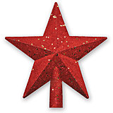 "Верхушка на елку B&H ""Звезда"" 20 см, красная"