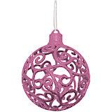 """Объемное украшение на елку B&H """"Шар"""" 8 см, нежно-розовый"""