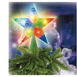 """Украшение на елку """"Звезда"""" с двухцветными светодиодами, 16 см 10 LED"""