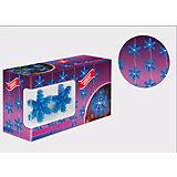 """Новогодняя электрогирлянда с насадками B&H """"Снежинки"""", 20 синих светодиодов, 2 м"""