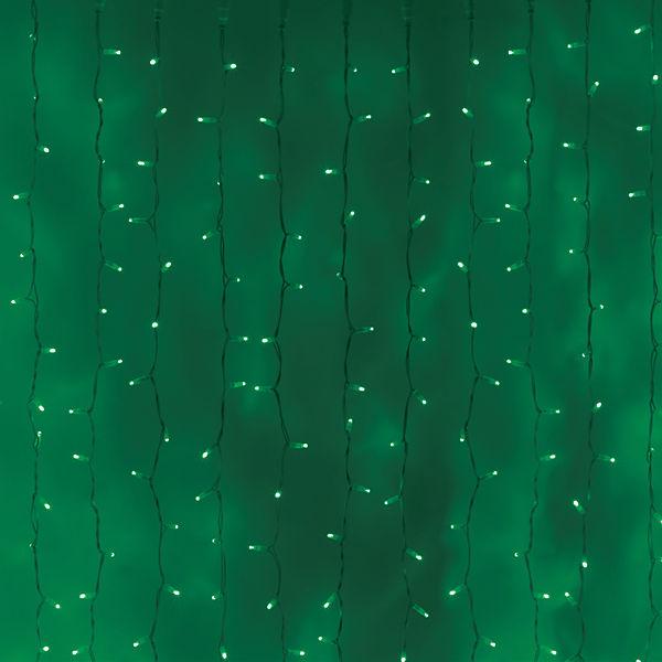 """Новогодняя электрогирлянда GLOS """"Световой занавес"""", 160 красно-зеленых светодиодов"""