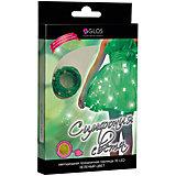 """Новогодняя электрогирлянда GLOS """"Симфония света"""" 30 фиолетовых нанодиодов, зеленый/синий/розовый"""