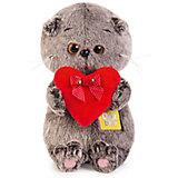 Мягкая игрушка Budi Basa Кот Басик BABY с красным сердечком, 20 см