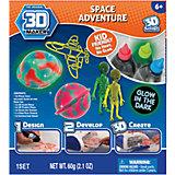"""Набор для творчества 3D Magic """"Инопланетяне"""" Maker для создания объемных моделей"""