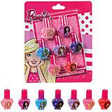 """Игровой набор Markwins Barbie """"Декоративная косметика"""" Лак для ногтей, 7 штук"""