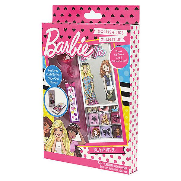 """Игровой набор Markwins Barbie """"Декоративная косметика"""" Блеск для губ, 9 шт + кисточка"""