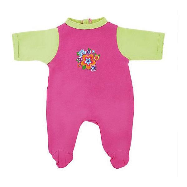 """Одежда для куклы Mary Poppins """"Цветочек"""" комбинезон, 38-43 см (розовый с зеленым)"""