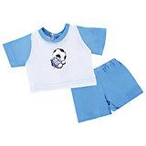 """Одежда для куклы Mary Poppins """"Спорт"""" футболка и шорты, 38-43 см (голубой)"""