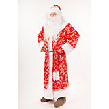 """Карнавальный костюм """"Дед Мороз Морозко"""" (шуба, шапка,борода, варежки, мешок, пояс)  размер 182-54-56"""