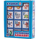 """Выдувка. Кубики с бортиком """"Английский алфавит"""" 12 эл (5,5 см)"""