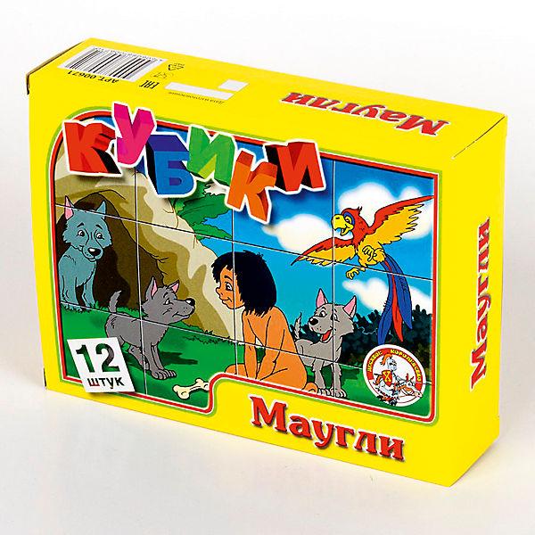 """Кубики """"Маугли"""" (без обклейки) 12 шт"""