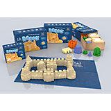 Кинетический песок, цвет бежевый,  упаковка 2 кг+6 формочек+коврик для игры