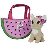 """Мягкая игрушка Simba Chi-Chi love """"Фруктовая мода"""" Собачка в сумочке, 18 см"""