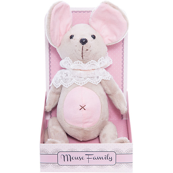 "Мягкая игрушка Angel Collection ""Mouse Family. Мышка-неженка в жабо"", шарнирная"