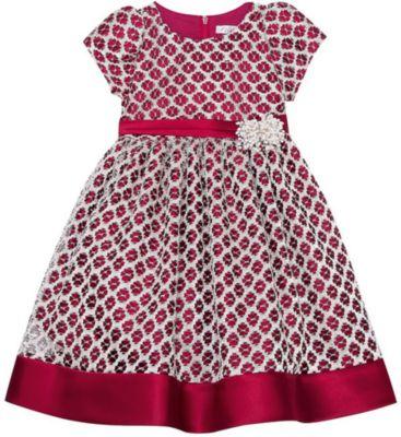 Нарядное платье Vitacci для девочки - бордовый
