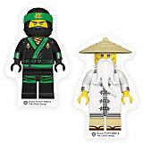 Набор ластиков (2 шт.) LEGO Ninjago Movie (Лего Фильм: Ниндзяго)- Lloyd/Wu