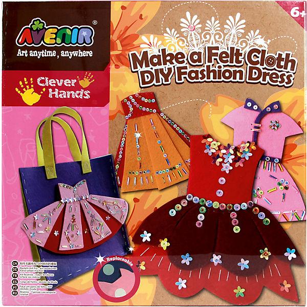 """Набор для поделок из ткани """"Модное платье"""""""