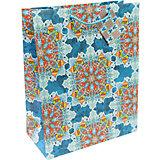 Бумажный пакет Яркий калейдоскоп для сувенирной продукции , с ламинацией