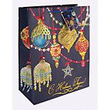 Бумажный пакет Яркие игрушки для сувенирной продукции, с ламинацией