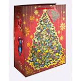 Бумажный пакет Новогодняя ночь для сувенирной продукции, с ламинацией