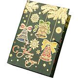 Подарочная коробка Елка с колокольчиками-M
