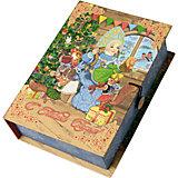 Подарочная коробка Снегурка за работой-M