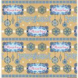 Крафт бумага Голубые узоры для сувенирной продукции в листах