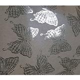 Крафт бумага Золотые бабочки для сувенирной продукции в листах