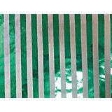Крафт бумага Зеленые полоски для сувенирной продукции в листах