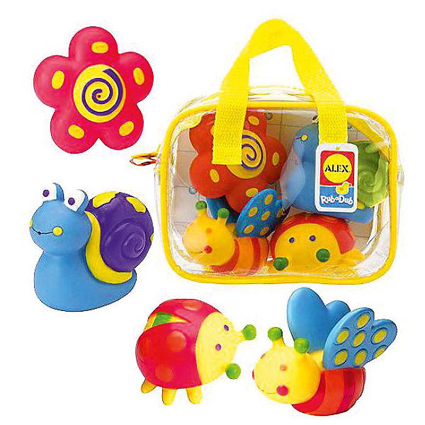 """Набор игрушек для ванны Alex """"Сад"""", 4 шт"""