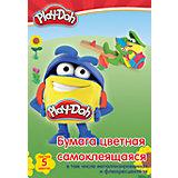 """Самоклеещаяся цветная бумага Академия Групп """"Play-Doh"""", 10 листов"""