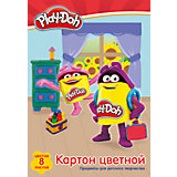"""Цветной картон Академия Групп """"Play-Doh"""", 8 листов"""
