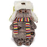 Мягкая игрушка Budi Basa Кот Басик в зимней шапке, 19 см