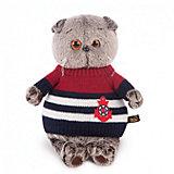 Мягкая игрушка Budi Basa Кот Басик в морском свитере, 19 см