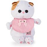Мягкая игрушка Budi Basa Кошка Ли-Ли Baby в розовом слюнявчике, 20 см