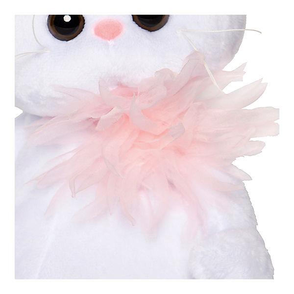 Мягкая игрушка Budi Basa Кошка Ли-Ли с розовой хризантемой, 24 см