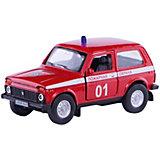 """Коллекционная машинка Autotime """"Lada 4х4 Пожарная охрана"""" 1:36"""