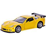 """Коллекционная машинка RMZ City """"Chevrolet Corvette C6-R"""" 1:32, желтый мателлик"""