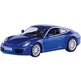 """Металлическая машинка RMZ City """"Porsche 911 Carrera S"""" 1:32, синий металлик"""