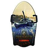 """Ледянка с ручками 1Toy """"World of Tanks"""" фигурная, 92 см"""