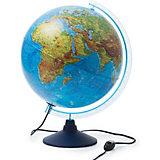 Глобус Земли физико-политический с подсветкой 320мм