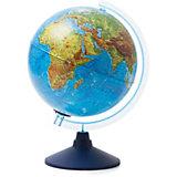 Глобус Земли физико-политический с подсветкой от батареек