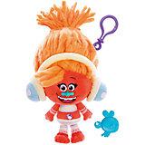 """Мягкая игрушка-брелок Zuru """"Тролли"""" Диджей Звуки, 20 см"""