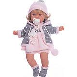 Кукла-пупс Llorens Лола в розовом платье, 38 см
