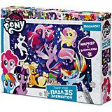 """Макси-пазл Origami """"My little pony"""" Поплаваем? 35 элементов + глиттерный маркер"""
